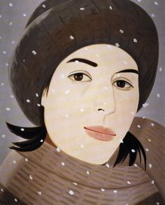 Alex Katz's portraits of his beautiful wife, Ada. #Art