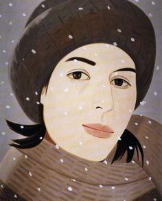 Alex Katz's portraits of his beautiful wife, Ada. #Art