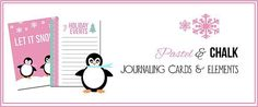 Pastel and Chalk Journaling Cards – Free Printable Download