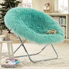 Pool Fur-rific Faux Fur Hang-A-Round Chair #pbteen