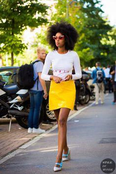 Milan Fashion Week SS 2016 Street Style: Julia Sarr-Jamois