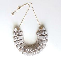 Homako Ori Ori Necklace -Linen on Etsy. So cute!