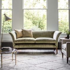 Warwick Sofa in Como Silk Velvet - Fern