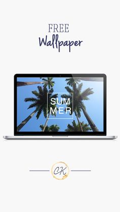 pinterest: @jaidyngrace Summer Palm Tree Ocean background wallpaper you can download for free on the blog! For any device; mobile, desktop, iphone, android!