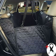 Amochien Dog Seat Cover Pet Car Waterproof  Scratch Proof  Nonslip Backing  Side Flaps  Quilted and Machine Washable Dog Car Seat Cover Hammock -- You can get more details by clicking on the image. (This is an affiliate link)
