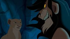 """The Lion King 20th Anniversary Tribute: """"The Madness of King Scar"""". In one of the original versions of the Lion King, the movie was going to take place from Nala's POV. At one point, Scar considers making her his mate. She refuses and runs away, eventually finding Simba again. I am SO glad they dropped that idea, because this scene is creepy as fuck!"""
