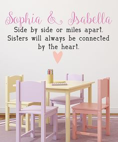 Love this Sisters Quote Personalized Wall Decal by LolliPOP Walls on #zulily! #zulilyfinds