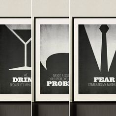 Mad Men Minimalist Poster Quotes Own All 3 and SAVE | Design Different
