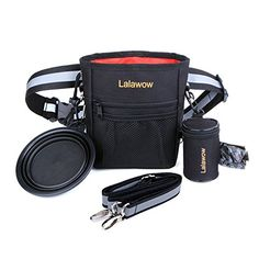 ef27f5cb73 Lalawow Dog Training Bag Pouch Travel Pet Bowl Waste Bag Dispenser  Adjustable Crossbody Reflective Straps -- Details can be found by clicking  on the image.