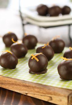 Dark Chocolate Orange Raisin Truffles  www.garnishwithlemon.com