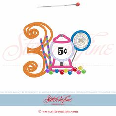 39 Candy : 3 With Candy Applique 5x7