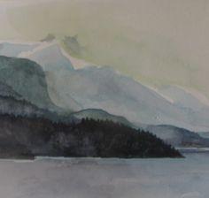 Aure fjord Mountain, Painting, Inspiration, Art, Atelier, Biblical Inspiration, Art Background, Painting Art, Kunst