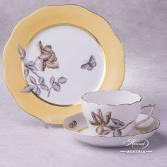 Victoria Grande Tea Cup with Dessert Plate - Herend Porcelain