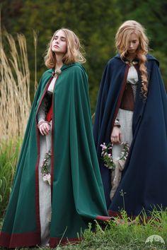 """Medieval Cotton Cloak """"Secret Garden"""""""