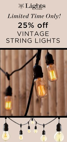 Our durable stringer prominently features 10 Edison-style LED bulbs, evoking warm, vintage charm - perfect for both indoor and outdoor use Vintage String Lights, String Lights Outdoor, Vintage Lighting, Cafe Style, Back Patio, Light Up, Vintage Inspired, How To Memorize Things, Bulbs