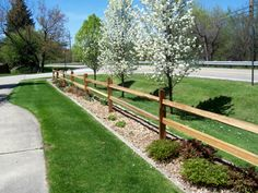split+rail+fence | Western Red cedar, Split Rail