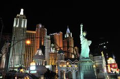 New York New York hotel, with Statue of Liberty at night | Flickr ...