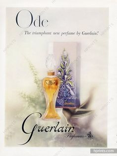 Ode by Guerlain is a Floral Aldehyde fragrance for women. Ode was launched in The nose behind this fragrance is Jacques Guerlain. The fragrance fe. Guerlain Perfume, Guerlain Makeup, Perfume Hermes, Perfume Ad, Vintage Perfume, Perfume Bottles, Anuncio Perfume, Replica Perfume, Cosmetic Design