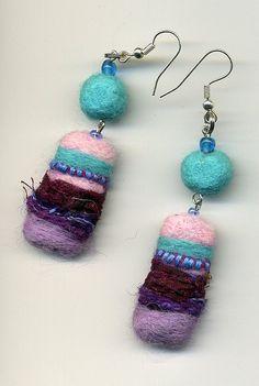 Felt Earrings | Flickr - Photo Sharing!