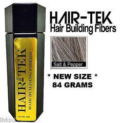 HAIR-TEK Hair Building Fibers,1_ 84gms_Salt & Pep*NEW SIZE * Hair Loss Concealer