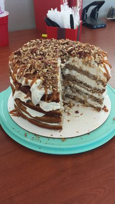 totally delicious!  I should have put more mousse in the bottom layers - I misjudged how much I had!! http://www.thegunnysack.com/2013/10/caramel-apple-mousse-cake.html