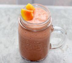 Smoothie Papaya-Banane-Himbeere #vegan #smoothie #papaya