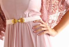Lace belt with gold buckle bridesmaids belt waist by MySecretFace