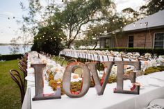 Love marquee sign makes a bold statement