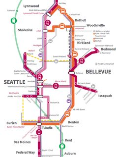 1000 Images About Maps On Pinterest  Seattle Light