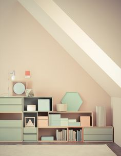 Pastel perfection + so much storage = home envy