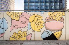 Mural by Benjie Escobar for POW! WOW! Long Beach:  http://www.powwowlongbeach.com/photo-video/  20150629-Benjie-Escobar.jpg