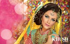 Bridal Gallery :: Khush Mag - Asian wedding magazine for every bride and groom planning their Big Day Asian Bridal Hair, Indian Bridal Makeup, Indian Wedding Jewelry, Indian Wedding Outfits, Bridal Hair And Makeup, Bridal Beauty, Bridal Outfits, Bridal Jewellery, Wedding Dresses