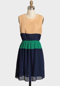 Delicately Designed Colorblock Dress
