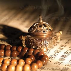 #Buddhism | Mala and incense.