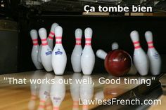 """Ça tombe bien - """"Good timing""""   #frenchexpression #learnfrench #fle #french"""