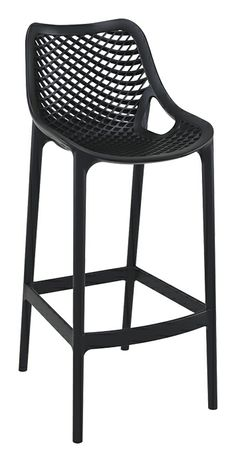 Air Bar Stool H 75 Cm Is Produced With A Single Injection Of Polypropylene Reinforced