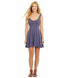 Angie Knit Skater Dress #Dillards