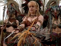 Amazons from Xena the warrior princess. Those masks are brilliant!