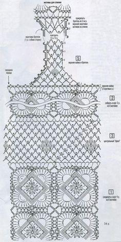 patrón de vestido de negro de crochet