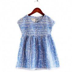 weekender dress (aztec blue) by boy + girl (from Sweet William)