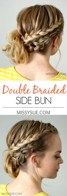 Double Braided Side Bun