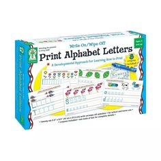 Write On-wipe Off Print Alphabet Letters