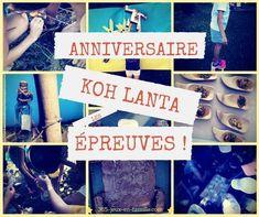 Découvrez toutes les épreuves et les jeux organisés pour l'anniversaire Koh Lanta. Avec des jeux à télécharger ;-) Ko Lanta, Survivor Party, Pajama Party, Party Games, Kids And Parenting, Diy For Kids, Birthdays, Birthday Parties, Invitations