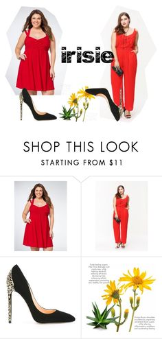 """""""Irisie-Plus size"""" by irisiecollection ❤ liked on Polyvore featuring Cerasella Milano"""