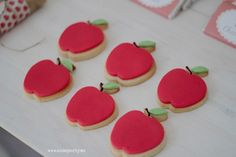 Nice Party cumple-Clara-4- Blancanieves galletas manzana