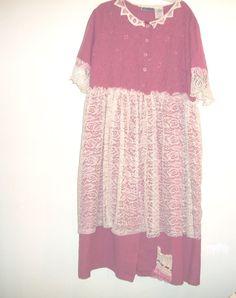 Plus Size/ Bohemian Dress/ Plus Size 1X /  by FabricDivaLady, $29.00