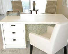 Turn a dresser into a desk
