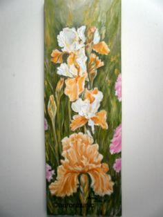 painting oil on canvas Iris, Oil On Canvas, Painting, Irises, Painted Canvas, Painting Art, Paintings, Oil Paintings