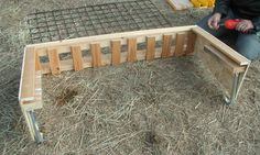 hay feeder, wooden assembly