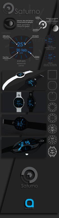 Proyecto a nivel de concepto, reloj Saturno Saturno | Watch Concept on Behancehttps://www.behance.net/gallery/17131191/Saturno-Watch-Concept?share=1